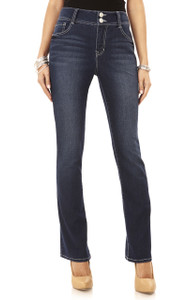 Double Button Curvy Bootcut Jeans In Mari