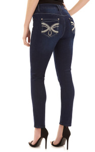 Signature Skinny with Embellished Pockets In Royal