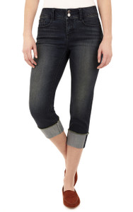 Curvy Embellished Cropped Jeans In Aire