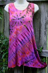 Summer Storm Sunset Tie Dye Tunic