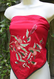 Wild & Free Embroidered Hankie Top (multiple colors)