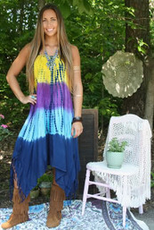 Beachside Beauty Fringed Dress