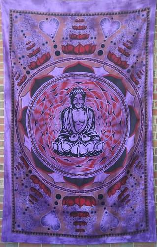 Buddha Love Lotus Mandala Tapestry