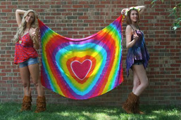 Rainbow Love Tie Dye Wall Hanging/Sarong