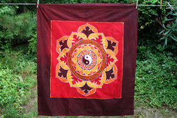 Fair Trade Yin-Yang Batik Wall Hanging