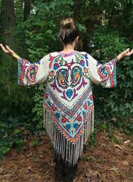 Folk Art Fringe Kimono