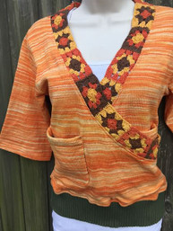 Vintage Vibe Granny Square Wrap Top