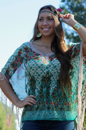 Bohemian Bliss Fringe Blouse