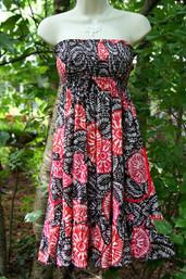 Folksy Free Strapless Dress