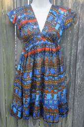 Indian Rain Ruffle Hem Dress (S & M only)