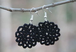 Night Sky Handmade Crocheted Earrings