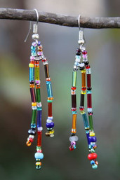 Rainbow Dangles Fair Trade Beaded Earrings