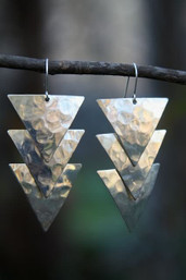 Aztec Waters Hammered Earrings