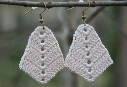 Wheat Field Handmade Crocheted Earrings