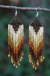 Tribal Feather Fair Trade Beaded Earrings