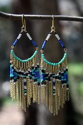 Gypsy Wanderer Boho Beaded Chain Earrings
