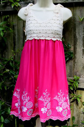 Sweet Rose Crocheted & Embroidered Dress