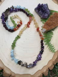 Rainbow Chakras Natural Gemstone Necklace