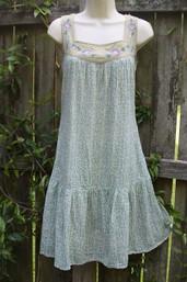 Good Karma Fair Trade Calico Dress - Grass