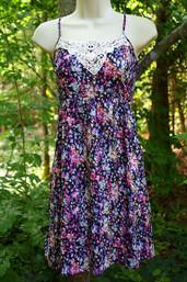 Vintage Charm Floral & Lace Dress