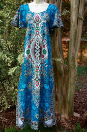 Vintage Hippie Dashiki Dress - (Multiple Colors)