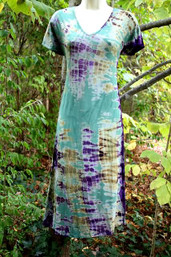 Forest Dew Fair Trade Tie Dye Dress