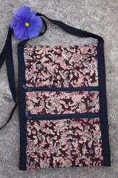 Rustic Roots Fair Trade Tri-Pocket Ethnic Sling Purse - Mountain
