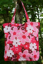 Wildflower Canvas Tote - Garden
