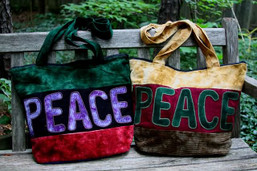Peaceful Patchwork Recycled Bag