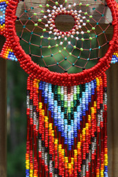 Peaceful Nights Fair Trade Handmade Glass Beaded Dreamcatcher