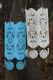 Boho Lounge Hanging Wooden Lantern