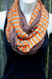 Ripple Double Infinity Scarf - Sunset