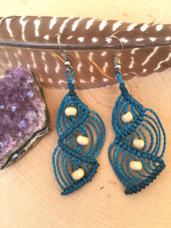 Ocean Waves Macrame Fair Trade Earrings