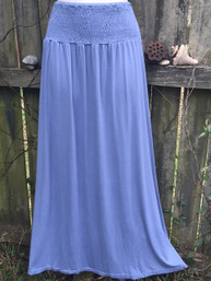 Summer Sky Fair Trade Maxi Skirt