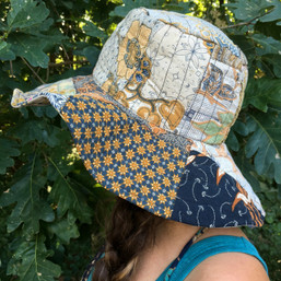 Let the Sun Shine Recycled Fair Trade Floppy Patchwork Hat