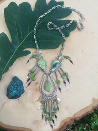 Bohemian Wanderer Stone & Metal Necklace
