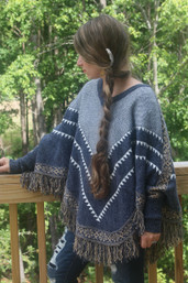 Forest Wanderer Cuffed Poncho with Fringe