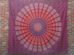Fair Trade Mandala Moon Tapestry (Large)