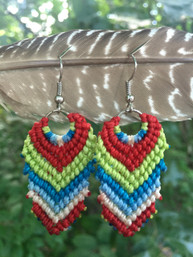 Earth Harmony Fair Trade Macrame Earrings II