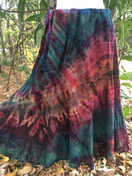 Wanderlust Tie Dye Swirl Skirt