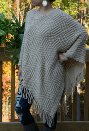 Cozy Fireside Super Soft Fringed Poncho