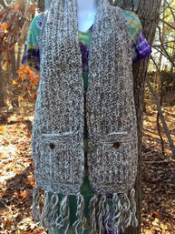 Winter Chill Fair Trade Pocket Scarf (Multiple Colors Avail)
