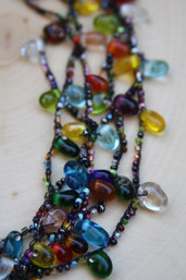Rainbow Wishes Glass Drop Necklace