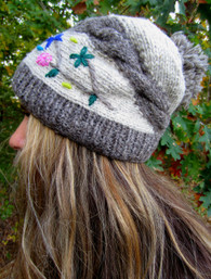 Winter Garden Fair Trade Fleece Lined Slouch Hat