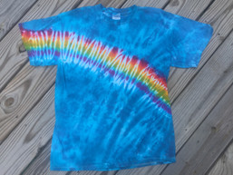 Handmade Rainbow Tie Dye T-shirt (M)
