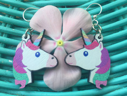Unicorn Magic Eco-Friendly Wooden Earrings