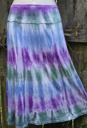 Peaceful Vibe Fair Trade Tie Dye Skirt - River