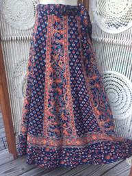 Vintage Hippie Wrap Skirt - Aspen