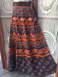 Vintage Hippie Wrap Skirt - Rainier