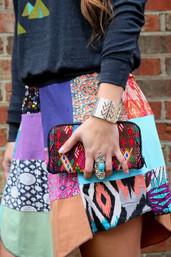 Rolling River Fair Trade Patchwork Skirt